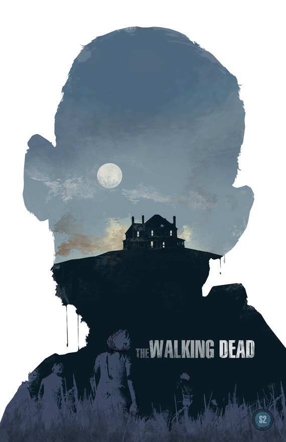 Walking Dead Season 2 Poster by Duke Dastardly - Zombies, TV, Art