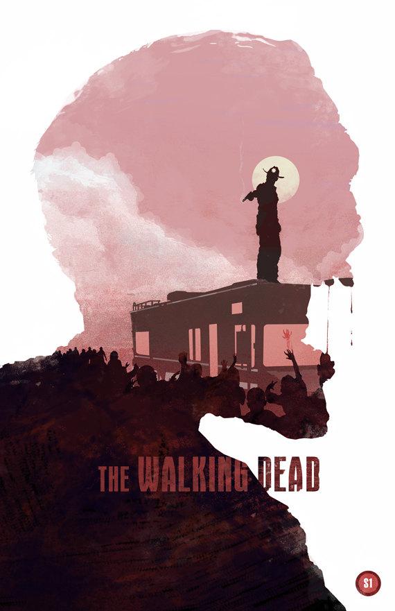 Walking Dead Season 1 Poster by Duke Dastardly - Zombies, TV, Art