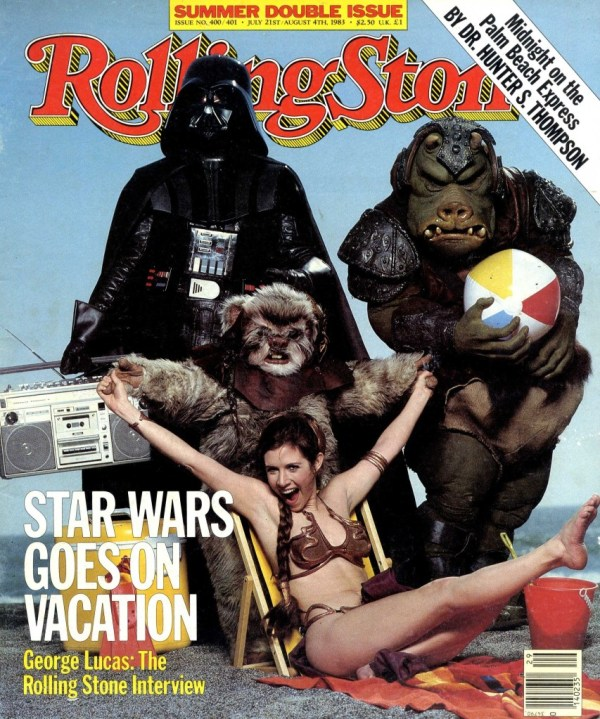 Star Wars Goes on Vacation - Rolling Stone Cover July 1983 - Slave Leia, Darth Vader, Ewok