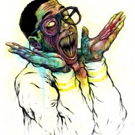 Demonic Steve Urkel by Alex Pardee