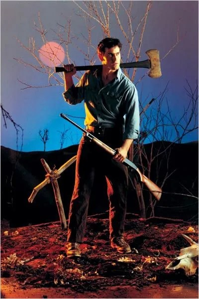 "Evil Dead Promotional Photo: Bruce Campbell as Ashley J. ""Ash"" Williams"