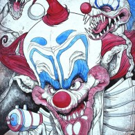 Killer Klowns from Outer Space Art by Candice Ciesla