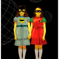 Batman & Robin x The Shining Twins Mashup Art - Grady Daughters, Stanley Kubrick