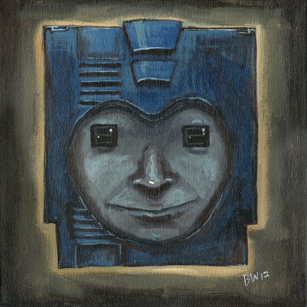 Mega Man Cartridge Painting by Blake Wheeler - Capcom, Gaming, Art