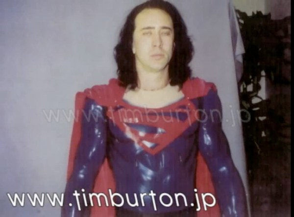 Nicolas Cage in Superman suit for Tim Burton and Kevin Smith's failed movie