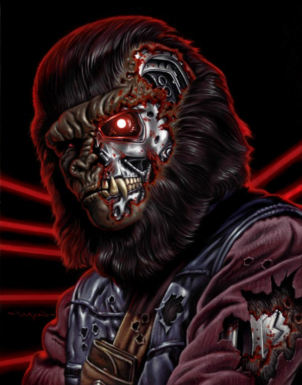 Planet of the Apes x Terminator Mashup by Jason Edmiston