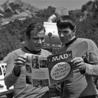 William Shatner and Leonard Nimoy Reading Mad Magazine - Star Trek Photo