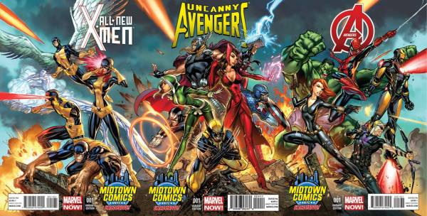 J Scott Campbell Art: Connecting X-Men and Avengers Covers