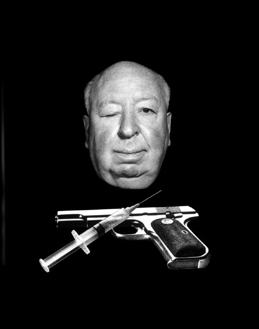 Promo photo for Alfred Hitchcock film Family Plot by Philippe Halsman (1975)