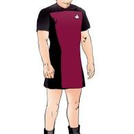 Chief Miles O'Brien (Colm Meaney) in a dress - Star Trek Art by Brandon Bird