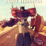 Optimus Prime x The Road Warrior Mashup Art by m7781 - Transformers