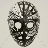 Jason Mask Decorated with Famous Lines from Horror Movies - We Are Ted