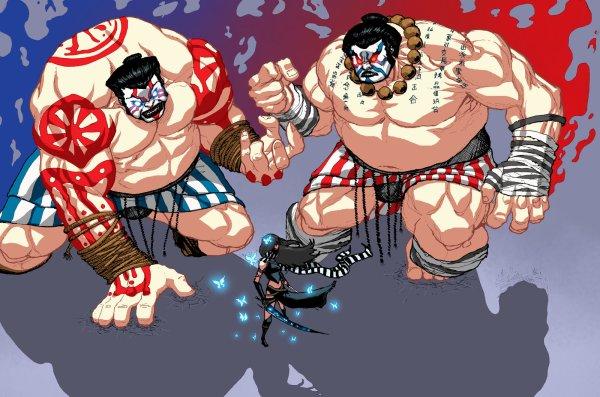 Tokyo Wonderland - Tweedledee and Tweedledum Sumo Wrestlers