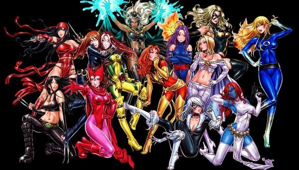 Bishoujo Style Marvel Comics Characters by Shunya Yamashita - Anime Manga Art
