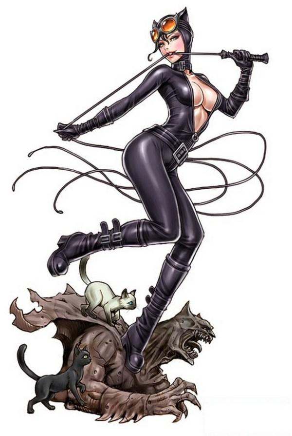Bishoujo Style Catwoman by Shunya Yamashita - DC Comics, Batman, anime, manga