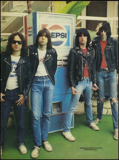 The Ramones with a Pepsi Machine