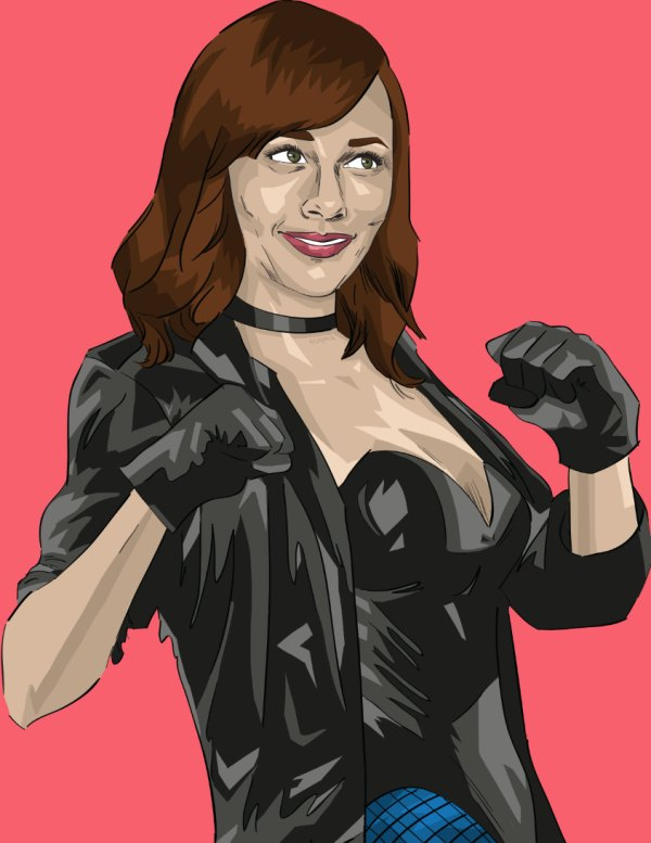 Ann Perkins as the Black Canary - Parks and Recreation, Justice League, Rashida Jones