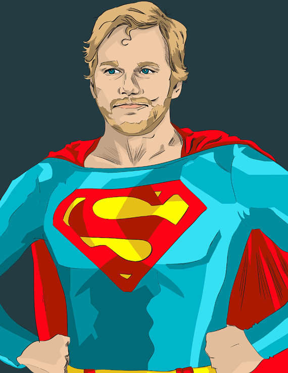Andy Dwyer as Superman - Chris Pratt, Parks and Recreation, Justice League