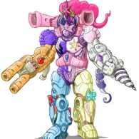 Mighty Morphin' Pony Rangers MegaHord by Sean Mirrsen - My Little Pony x Power Rangers