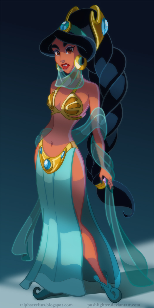 Slave Princess Jasmine by pushfighter - Disney Star Wars Princesses - Aladdin