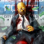 Homer - Grand Theft Otto: The Simpsons as Gritty '80s Crime Drama by Dan LuVisi