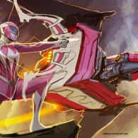 Pink Ranger and Pterodactyl Dinozord by nebezial - Mighty Morphin Power Rangers Art