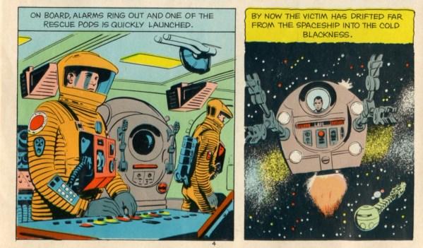 Rescue Pods - 2001 A Space Odyssey Howard Johnsons Children's Menu (1968) - Stanley Kubrick - Arthur C. Clarke