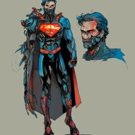 cyborg superman by kenneth rocafort - dc comics