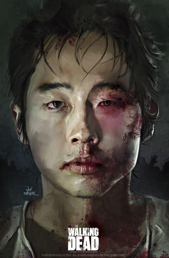 Glenn (Steven Yeun) from Walking Dead by Vlad Rodriguez
