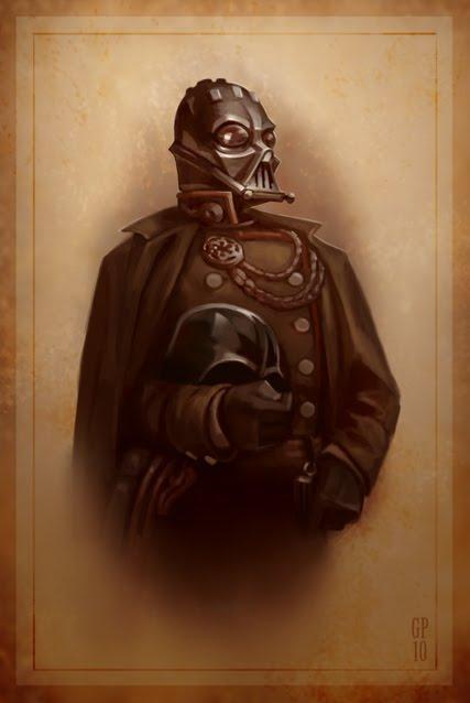 Civil War Darth Vader Portrait by Greg Peltz