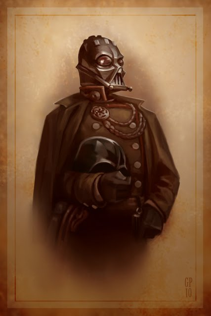 Civil War Darth Vader Portrait by Greg Peltz