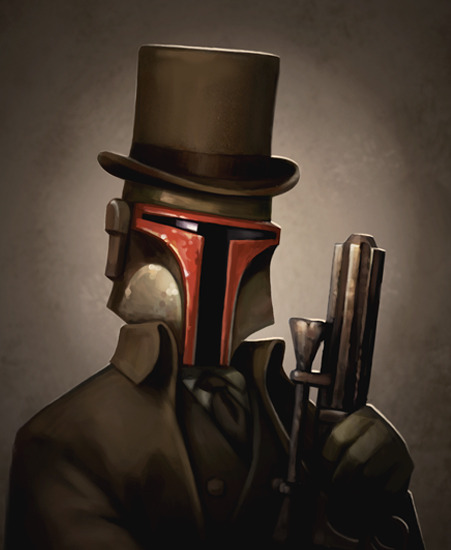 Headhunter - Victorian Boba Fett - Steampunk Star Wars Art by Greg Peltz