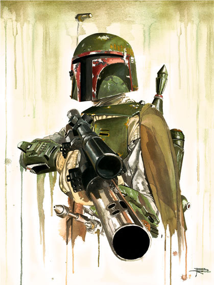 Boba Fett by Brian Rood - Star Wars Art