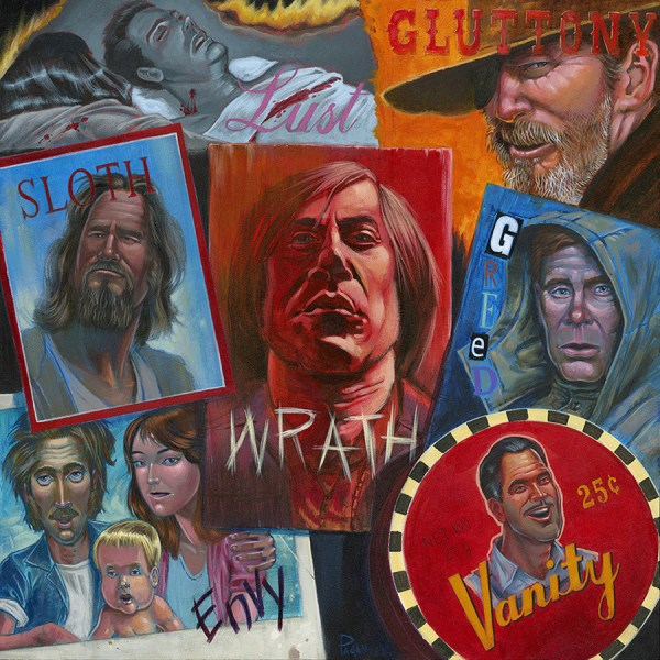 The Seven Sins of Coen Brothers Cinema by Augie Pagan - Over the Line - Ltd Art Gallery