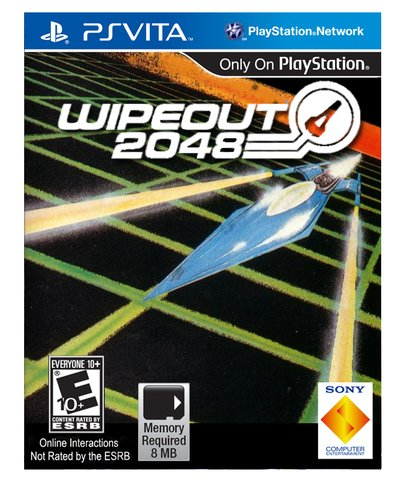 retro wipout 2048 box art - vintage 1980s style video game covers for modern games