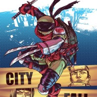 tmnt #25 city fall cover by Mateus Santolouco - Teenage Mutant Ninja Turtles Comics