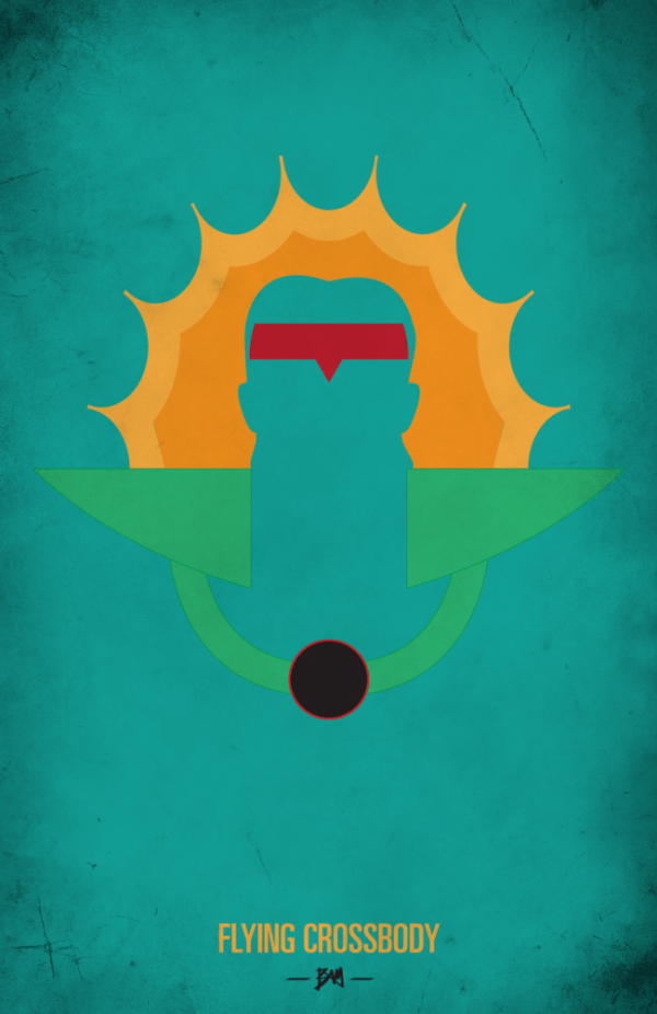 Ricky the Dragon Steamboat Minimalist WWF Wrestling Poster