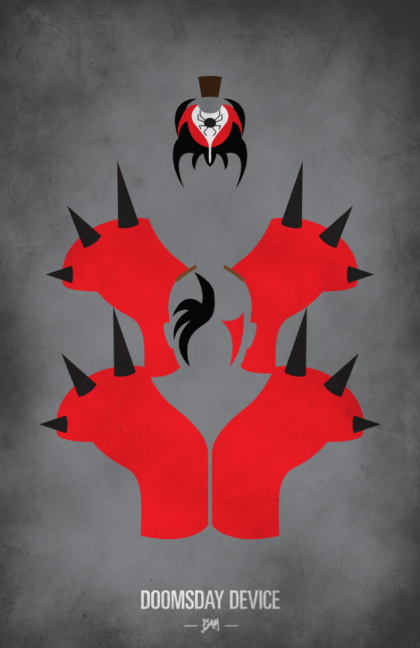 Legion of Doom Minimalist WWF Wrestling Poster
