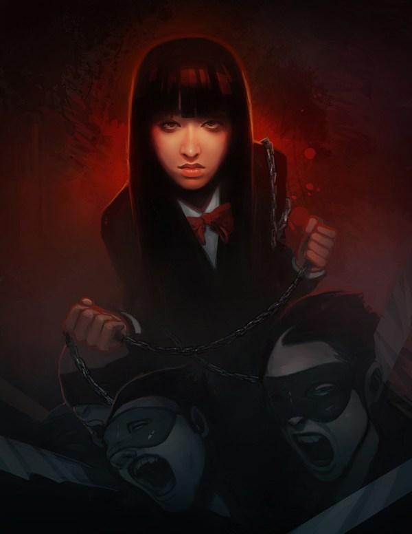 Gogo Yubari by Dave Greco - Kill Bill - Quentin Tarantino - Chiaki Kuriyama