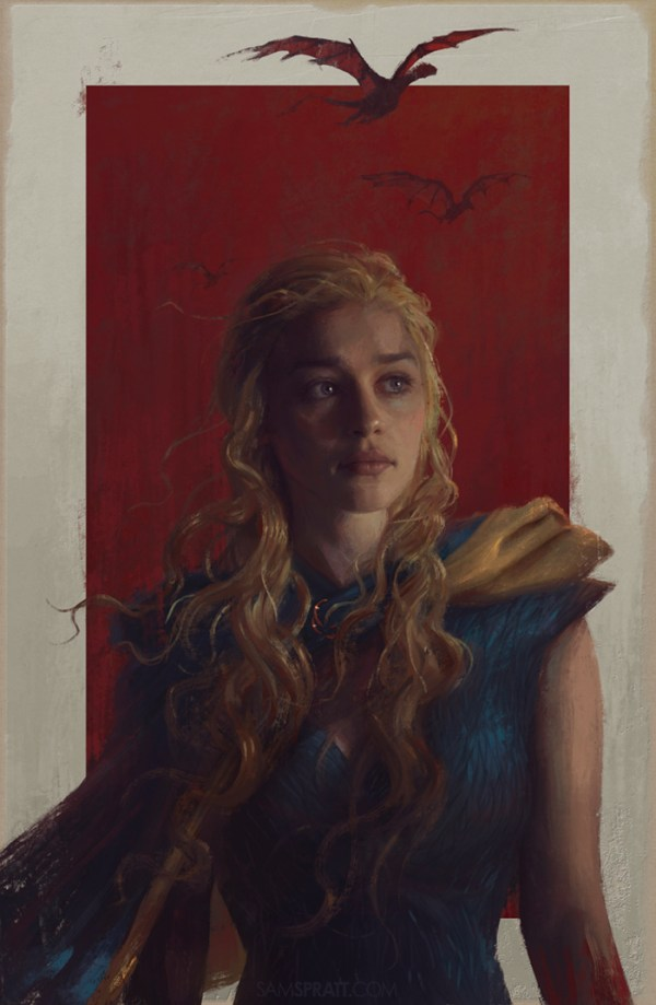 Daenerys Painting by Sam Spratt