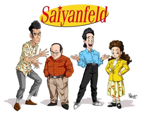 Saiyanfeld - Seinfeld in the style of Akira Toriyama (Dragon Ball)