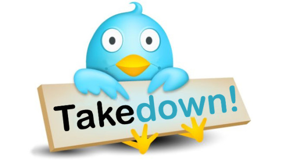 Twitter now posts takedown messages for tweets that violate copyrights
