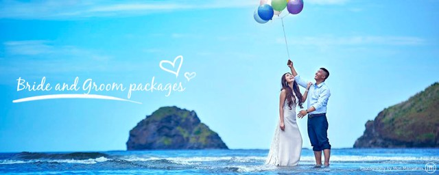 Bride and groom package - by RoyAnne Camillia Couture Manila based bridal and debut gown fashion designer