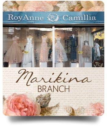 Marikina Branch - RoyAnne Camillia Couture branches in Metro Manila that offer Couture and Rentals for Bridal and Debut gowns in Manila