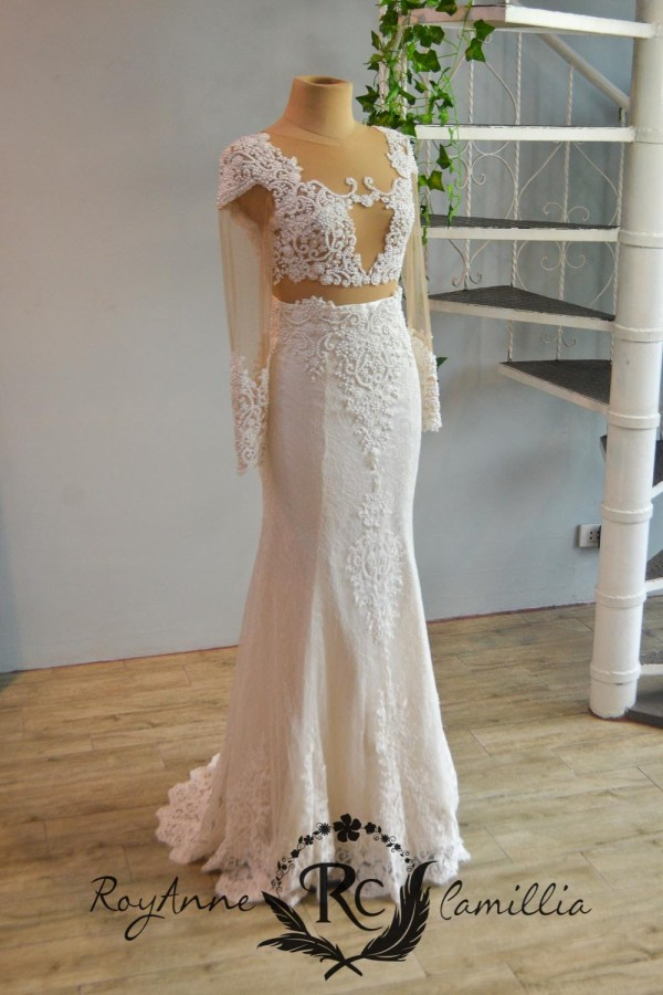 white rental gown by royanne camillia the best gowns in manila Philippines