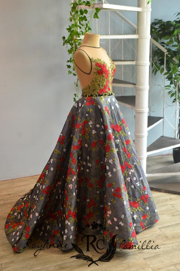 floral rental gown