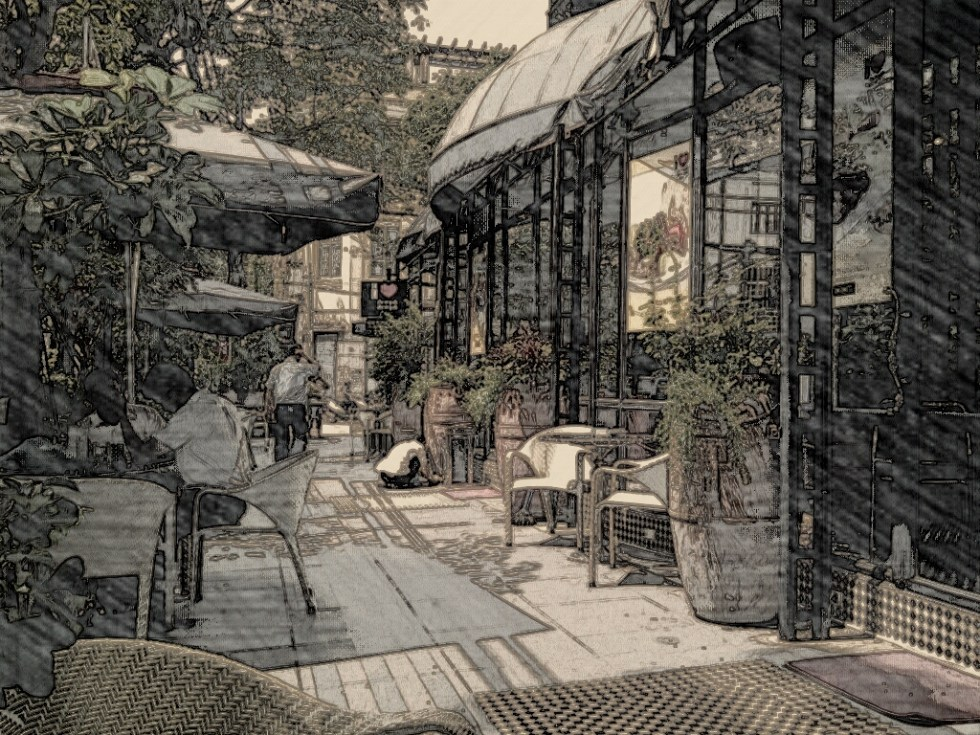 Cafe scene