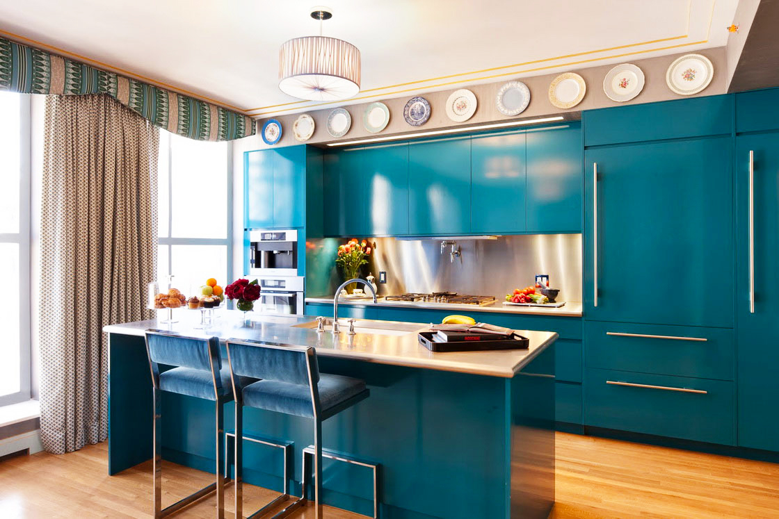 cost to remodel kitchen for Captivating Plate Wall Ornament Mixed With Cool Turquoise kitchen cabinet designs In average Kitchen Remodel Cost