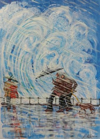 British Storm, waves, surfing, rain, weather
