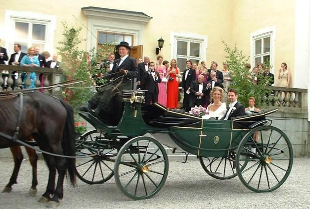 Haga slott med häst och vagn